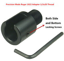 "Ruger10/22 1022 1/2""x28 TPI AL Adapter and .223 Birdcage Muzzle Brake Combo"