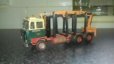 Code 3 1.50 foden s80 logging truck with crane moorhouse white metal