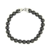 DAVID YURMAN Men's Matte Black Onyx Spiritual Bead Bracelet $395 NEW