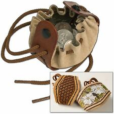 Drawstring Coin Pouch Kit (4071-00) White Bear Leather
