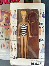 "Collectible Barbie Doll Key Chain, Movable Arms/Legs/Head, 4"" Doll, 1995 New Nip"