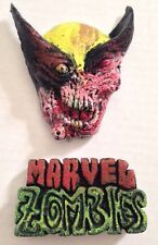 Marvel Zombie Logo-Wolverine 3D Magnet Set-Handmade & Painted-NY Comic Con NYCC