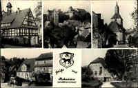 Hohnstein ~1971 DDR Mehrbildkarte Sächsische Schweiz Fachwerk Haus Kirche Dorf