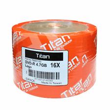 100 Titan 16X Logo DVD-R DVDR Blank Disc Media 4,7GB