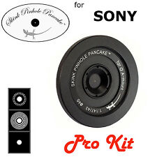 Skink Pinhole Pancake Obiettivo PRO KIT con zone PIASTRE Sony SLT a77 a68 a55 a33