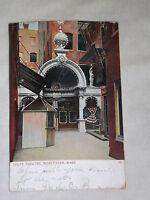 VINTAGE 1907 POLI'S THEATRE WORCESTER MASS   POSTCARD