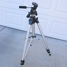 """Bogen 3035 Professional Tripod W/ 3047 Head up to 84"""" Italy Made Very Nice"""