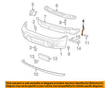 GM OEM Front Bumper-Bumper Cover Brace Right 15193423