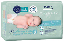 Mater Nappies Newborn First Weeks size 0, up to 3.5kg hospital-developed, 24pack