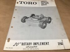 "toro 20"" rotary implement parts list,IPL ,antique toro tractor"