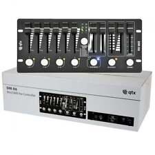 QTX DM-X6 Mini DMX PAR Controller Mixes RGB + W A V 6 Channel Dimmer Speed BNIB