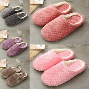 Women Non-slip Warm Slippers Indoor House plush Soft Cotton Slippers Shoes 2021