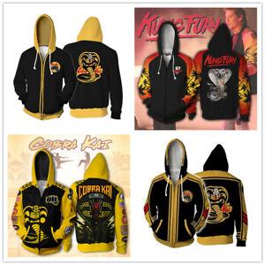Cobra Kai: the Karate Kid Saga 3d printed Hoodies casual Jacket School Uniform