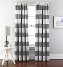 1 Panel Cabana Striped Back Tab Thermal Insulated Blackout Window Curtain