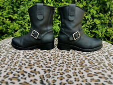 Urban Project Black Leather Biker Style Ankle boots UK 5 EU 38