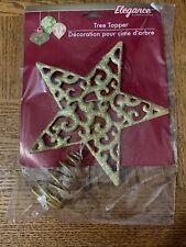 Christmas Tree Star Topper Gold