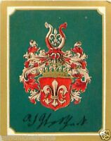 Adolf Friedrich von Schack Germany Armoiries Coat of Arms IMAGE CHROMO 30s