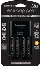 Panasonic Eneloop Pro Individual Cell Battery Charger with 4 AA Rechargeable NEW