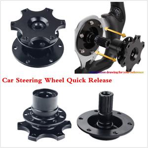 Car Steering Wheel Quick Release HUB Racing Adapter Snap Off Boss Kit Black