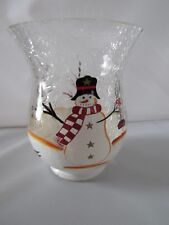 Biedermann & Sons Snowman Scene Mini Hurricane - New - $24