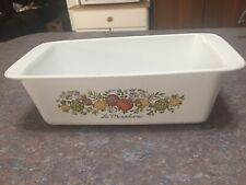 """VTG PYREX CORNING WARE SPICE of LIFE P-315-B """"La Marjolaine"""" LOAF PAN 9x5x3 INCH"""