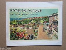 Reproduction Luggage Label Sticker - Hotel Do Parque Estoril Portugal