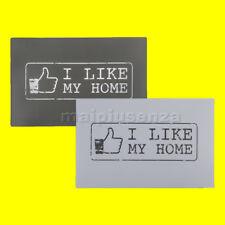 Set 4 Tovaglietta da tavola I LIKE MY HOME 44x30cm 2 colori Sottopiatto stile FB