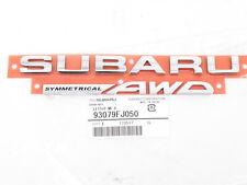 """Genuine OEM Subaru 93079FJ050 """"SUBARU AWD"""" Rear Trunk Nameplate Badge Emblem"""