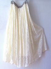 NEW~Ivory Cream Victorian Lace Peasant Romantic Boho Dress-Skirt~8/10/M/Medium