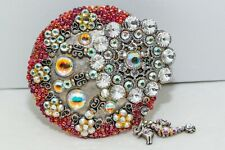 Hand encrusted Circle Belt made with Swarovski Crystal with hanging Seahorse
