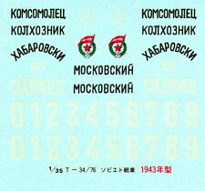 TAMIYA Decal  pour 35059 1/35 Russian T34/76 1943 Tank
