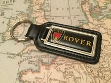 ROVER Quality Black Real Leather Keyring Oblong 200 400