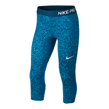 Nike Pro Cool Girl's Training Capri Pants 890221 Color Neon Turquoise Sz L NWT