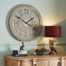 Home Decor - Rustic Style - Large Analogue Wooden Clock - 60 cm