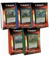 MTG Ikoria Magic Commander 2020 Sealed Case SET OF ALL 5 DECKS free postage