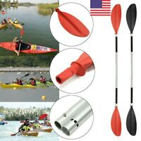 Kayak Canoe 2Pcs Detachable Floating Aluminium Paddle Oar Boat Rafting Canoe US
