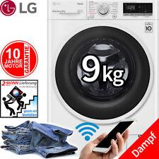 LG 9 kg Direktantrieb Waschmaschine Frontlader Dampf Funktion 1400 U/min NEU/OVP