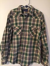 Pendleton Mens Epic Shirt Pearl Snap Western Plaid Fitted Shirt Size XL