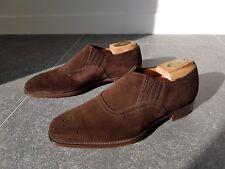 Alfred Sargent Stiles EXCLUSIVE RANGE suede cap toe slip on - UK 8 - MADE IN UK