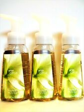 Bath Body Works WHITE CITRUS Anti-Bacterial Gentle Foaming Hand Soap, NEW x 3