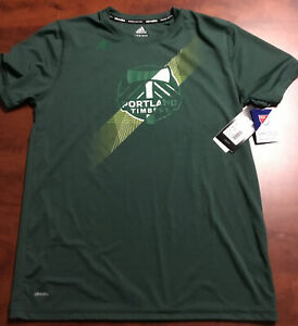 Adidas Climalite Seattle Sounders MLS Green T-Shirt NWT Size Youth X-Large XL