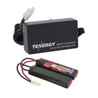 Tenergy 9.6V 2000mAh NiMH Airsoft Battery Pack + 8.4V 9.6V Smart Charger Option