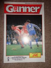 ARSENAL vs MAN Utd MANCHESTER UTD FA cup 1988 football programme 20.02.1988