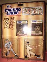 1989 Starting Lineup Baseball Greats Mickey Mantle and Joe DiMaggio MLB