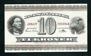 Denmark (P44w) 10 Kroner 1964 VF+