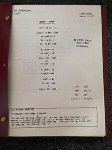 rare original THREE'S COMPANY 1983 television tv script JACK BE QUICK complete