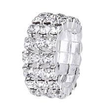 Jewelry 3-Row Rhinestone 9mm-Silver G7V5 3 x Elastic Toe Ring Bridal