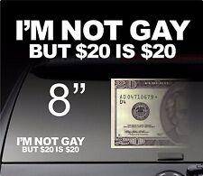 I'm Not Gay Funny Bumper Car Truck Sticker Vinyl Decal Dope JDM Prank Sticker Wi