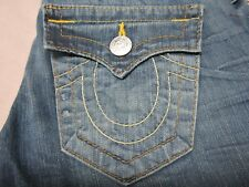 TRUE RELIGION WOMENS TONY CLASSICS PANCHO BLUE BOOTCUT FIT JEANS SIZE 26 NEW