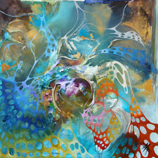 Bozena Ossowski ART- Struktur Gemälde - Malerei abstrakt - 100x100 cm Acrylbild